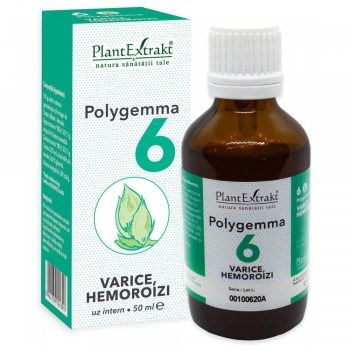 POLYGEMMA Nr.6 (Varice - Hemoroizi), 50ml   Plantextrakt