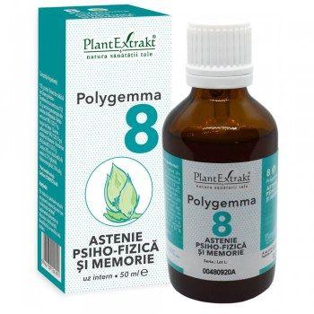 POLYGEMMA Nr.8 (Astenie Psiho-Fizică și Memorie), 50ml | Plantextrakt