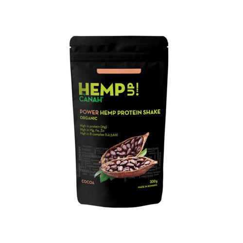 Shake Proteic de Cânepă și Cacao ECO POWER Hemp Up, 300g | Canah