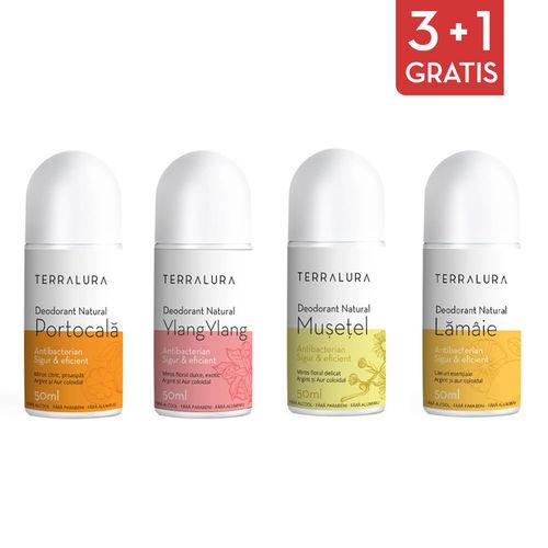 Pachet 3+1 Gratis Deodorante cu Arome Noi | Terralura