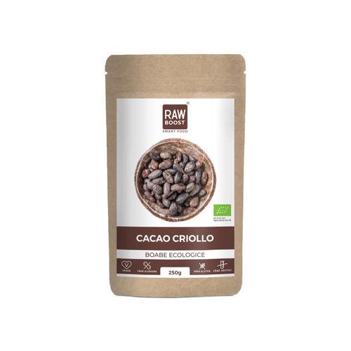 Cacao Criollo boabe ecologice 250g | Rawboost