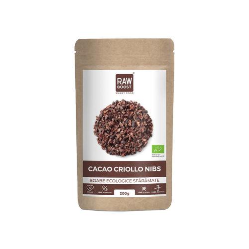 Cacao Criollo spartura boabe ecologice, 200g | Rawboost