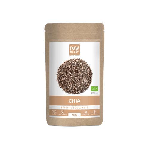 Chia seminţe ecologice crude 200g | Rawboost
