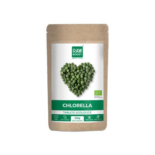 Chlorella tablete ecologice 250g/500tb | Rawboost