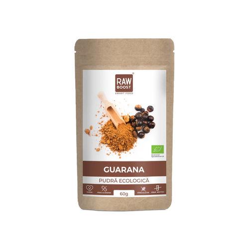 Guarana pudră ecologică 60g | Rawboost