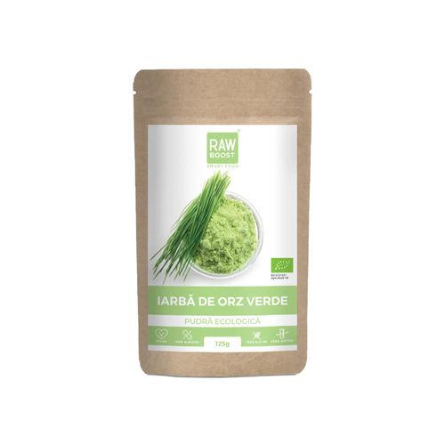 Iarbă de orz pudră ecologică 125g | Rawboost