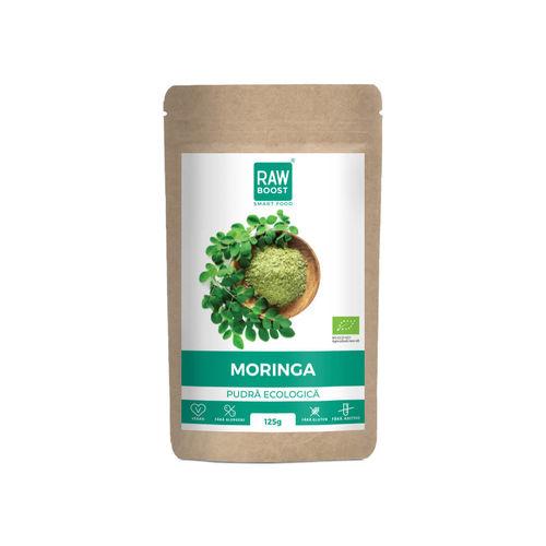 Moringa pudră ecologică, 125g | Rawboost