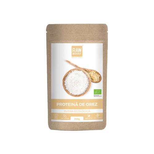 Proteină de orez pudră ecologică 250g   Rawboost