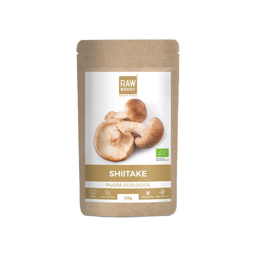 Shiitake pudra ecologica 125g | Rawboost