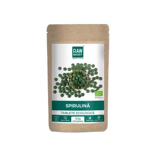 Spirulină tablete ecologice 125g/250 tb | Rawboost