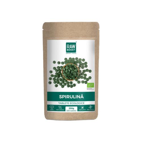 Spirulină tablete ecologice 250g/500tb | Rawboost