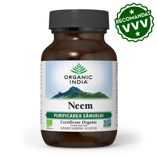 Neem Antibiotic și Antifungic Natural 60 cps | Organic India