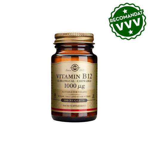 Vitamina B12 1000mcg 100 tablete masticabile | Solgar
