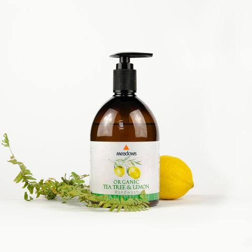 Săpun Lichid Organic cu Tea Tree și Lămâie, 500ml | Meadows Aroma