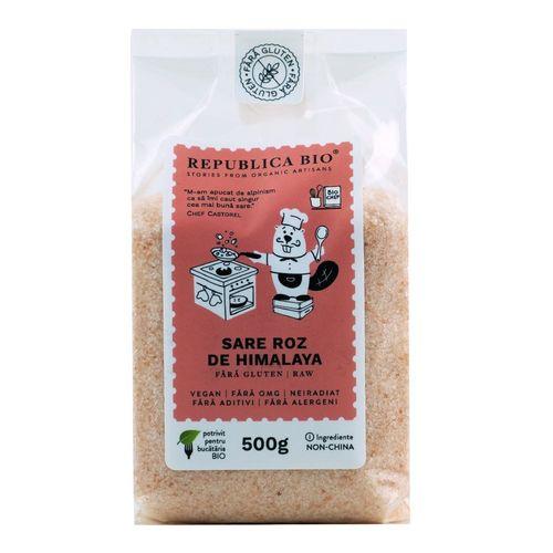 Sare Roz de Himalaya Fina Natural Fără Gluten, 500g | Republica BIO