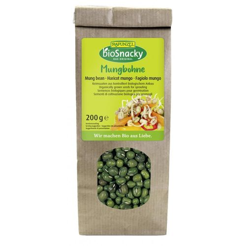 Seminte de fasole Mung pentru germinat 200g | Rapunzel - BioSnacky