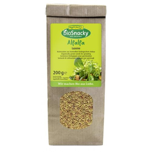 Seminte de lucerna pentru germinat 200g   Rapunzel - BioSnacky