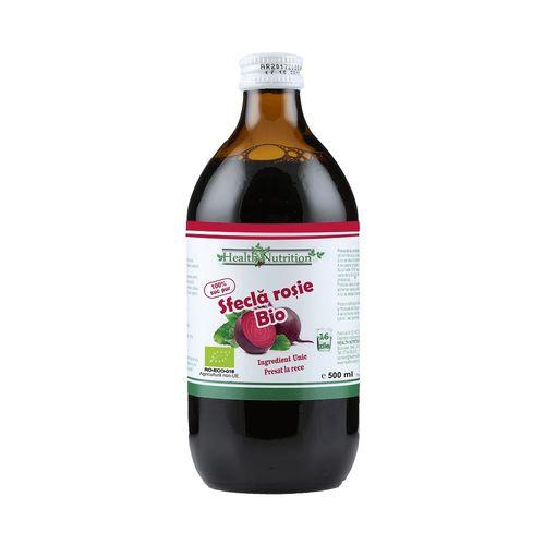 Suc de Sfeclă Roșie 100% Pur, Bio, 500ml | Health Nutrition