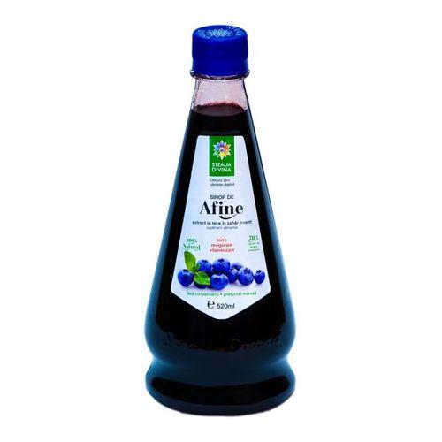 Sirop Natural de Afine Presat la Rece, 520ml | Steaua Divină