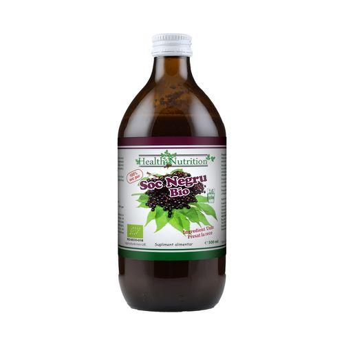 Suc de Soc Negru 100% Pur, Bio, 500ml   Health Nutrition