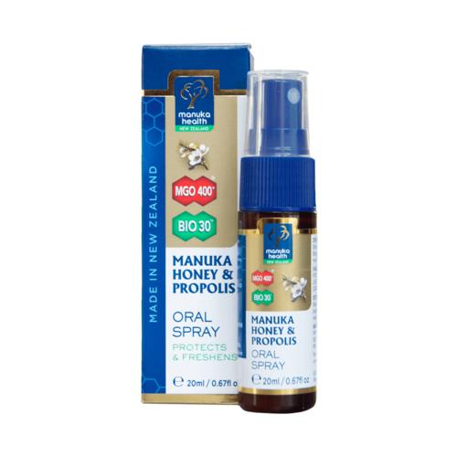 Spray oral cu Miere de Manuka MGO™ 400+ şi Propolis BIO30™ 20ml | Manuka Health