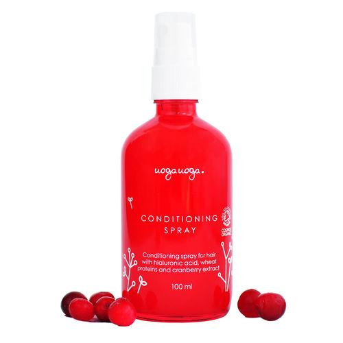Balsam spray pentru par cu acid hialuronic, proteina de grau si extract de merisoare | Uoga Uoga