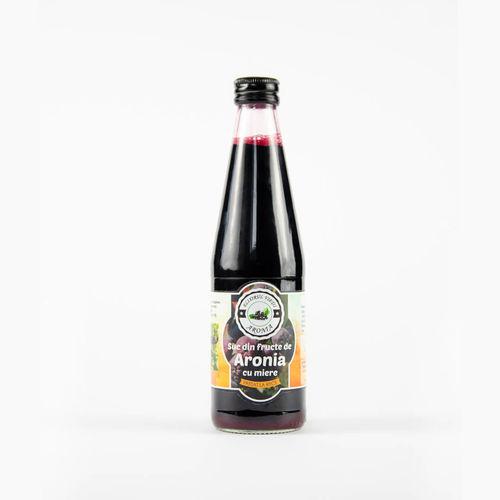 Suc Ecologic de Aronia cu Miere, presat la rece, 330 ml   Aronia Elixirul Vietii