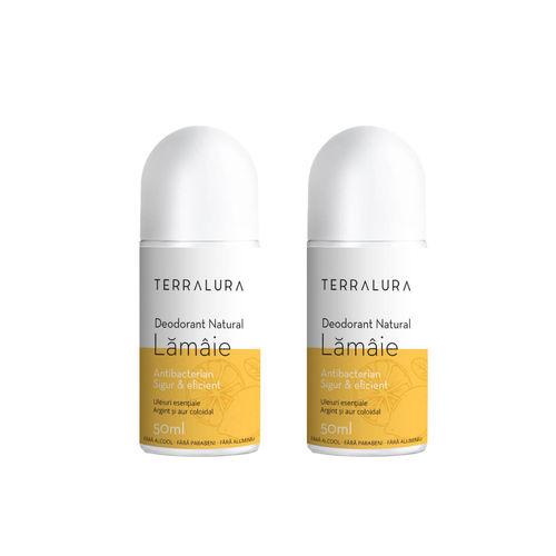 Pachet 2 x Deodorant natural roll-on Lămâie | Terralura