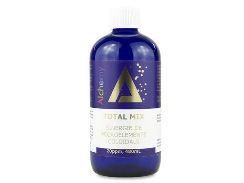 Total Mix, sinergie de aur, argint, platina, cupru, zinc, magneziu, vanadiu, crom coloidal 20ppm | Pure Alchemy