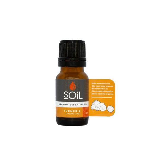 Ulei Esențial Turmeric (Curcuma longa) Pur 100% Organic ECOCERT 10 ml | SOiL