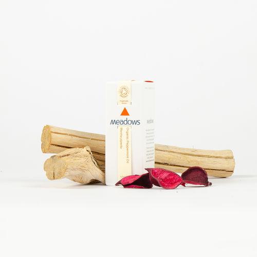 Ulei Esențial Organic de Mentă (Peppermint), 10ml | Meadows Aroma