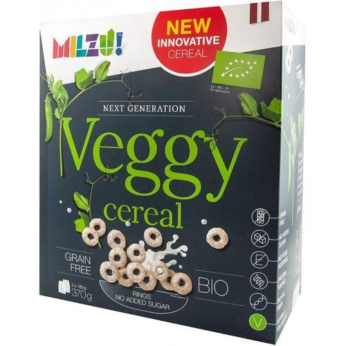 Cereale BIO fara gluten Milzu! Veggy, Inele din mazare fără zahăr adăugat, 370g
