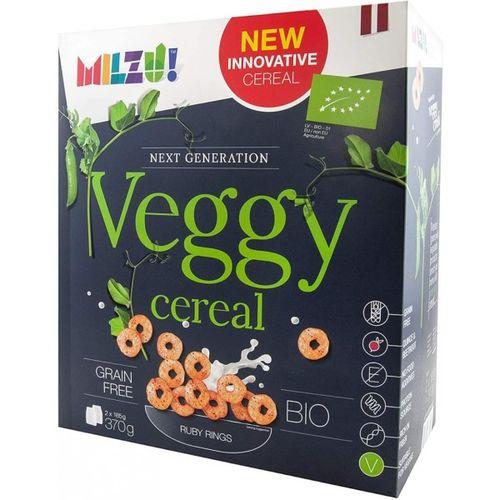 Cereale BIO Fara Gluten Milzu! Veggy, Inele rubinii din faina de mazare, 370G