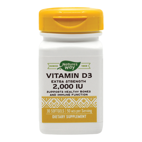 Vitamin D3 2000UI (Adulți), 30 capsule moi | Secom