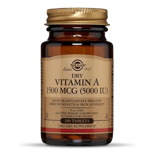 Vitamina A Uscată 5000IU, 100 tablete | Solgar