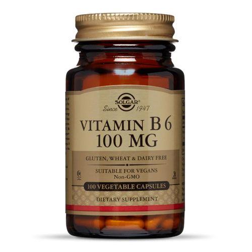 Vitamina B6 100mg, 100 capsule   Solgar