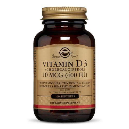 Vitamina D3 (Colecalciferol) 400IU, 100 capsule moi   Solgar