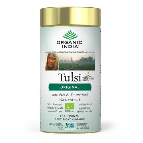 Ceai Tulsi (Busuioc Sfant) Original, Antistres & Energizant 100g | Organic India