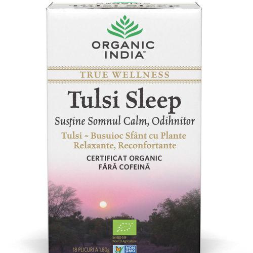 Ceai Tulsi Sleep pentru Somn Calm, Odihnitor 18pl | Organic India