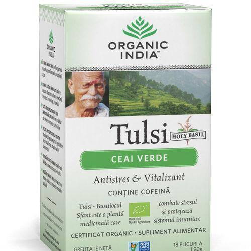 Ceai Verde Tulsi, Antistres & Vitalizant 18pl | Organic India