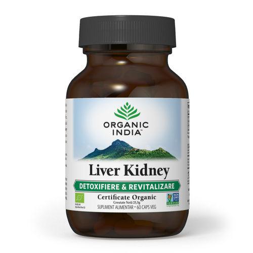 Liver Kidney Detoxifiere Ficat & Rinichi 60 cps | Organic India