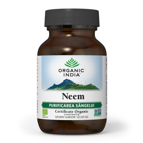 Neem Antibiotic si Antifungic Natural 60 cps | Organic India