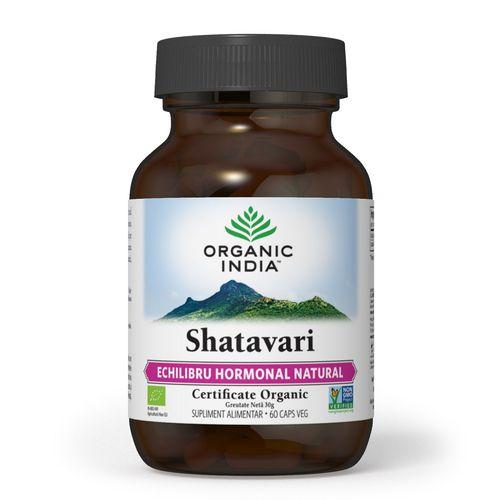 Shatavari Echilibru Hormonal & Fertilitate 60 cps | Organic India