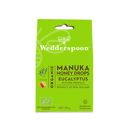 Bomboane (dropsuri) ecologice cu Miere de Manuka, Eucalipt si Propolis 120g | Wedderspoon