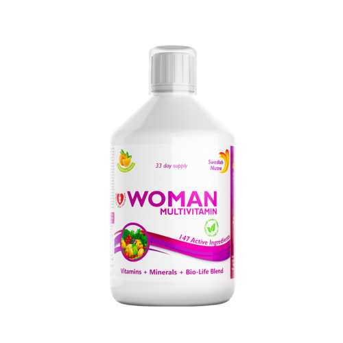 Multivitamine Lichide pt Femei cu 147 Ingrediente, 500 ml | Swedish Nutra