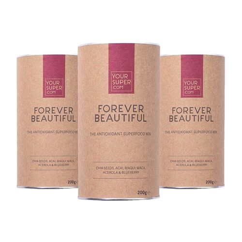 Pachet Cură Completă FOREVER BEAUTIFUL Organic Superfood Mix, 3x 200g | Your Super