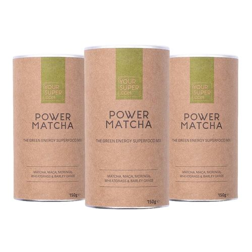 Pachet 3x POWER MATCHA Organic Superfood Mix, 150g | Your Super