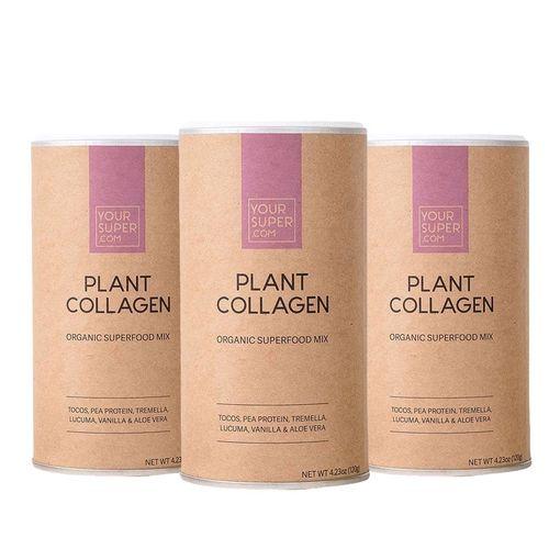 Pachet Cură Completă PLANT COLLAGEN Organic Superfood Mix, 3x 120g | Your Super