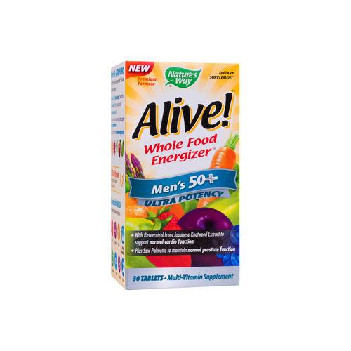 Alive! Bărbați 50+ Ultra, 30 tablete filmate