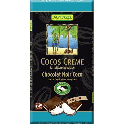 Ciocolata amaruie cu umplutura de crema de cocos VEGANA 100g